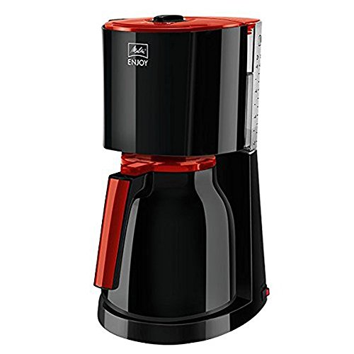 Melitta 1017-10 Enjoy Therm Filter-Kaffeemaschine, schwarz - rot
