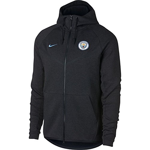 Nike Herren Manchester City Tech Fleece Windrunner Kapuzen Jacke, schwarz, XL-52/54