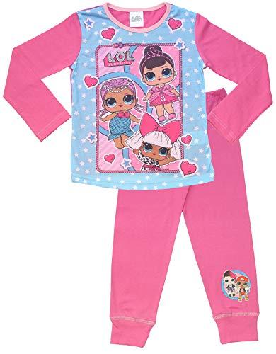 L.O.L. Surprise ! Pigiama per Bambine in Cotone Morbido Lil Sisters Bambole Set da Pigiama (4/5 Anni, Rosa)
