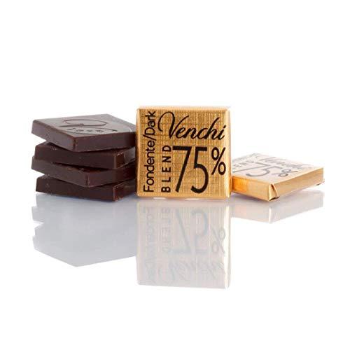 Venchi Cioccolatini Napolitans Puro Blend 75% Fondente g 500 - Senza Glutine - Ideali per accompagnare il caffè e come cioccolatini da cortesia