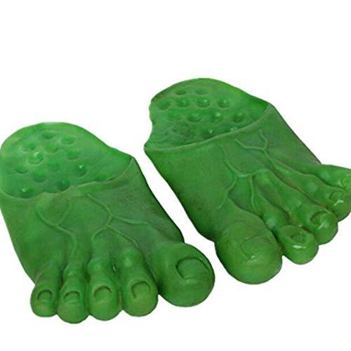 Cosplay Fantasma Hulk Gigante Verde Pies Zapatillas Bigfoot Contar Calcetines Mascarada (Verde)