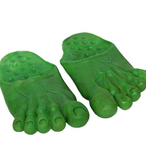 Cosplay Fantasma Hulk Gigante Verde Pies Zapatillas Bigfoot Contar Calcetines Mascarada (Verde)