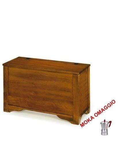 L'Aquila Design Arredamenti Classico cassapanca Mobile Porta Legna Arte povera Soggiorno Sala Ingresso 519 85x41x52