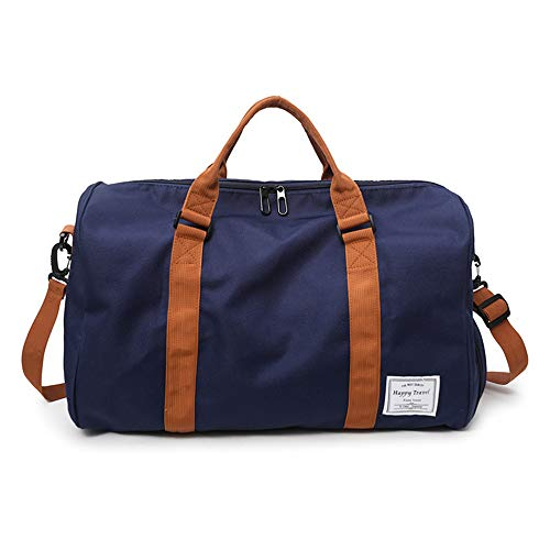 MOLLYGAN Travel Duffel Bag Large Capacity Yoga Gym Bag Durable Duffle Sports Bag with Shoes Compartment Tote Bag for Men and Women Deep Blue