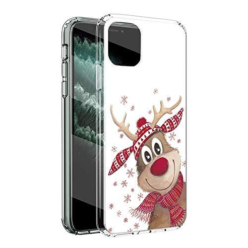 ZhuoFan Funda para Apple iPhone 11 Pro MAX, Cárcasa Silicona Transparente con Navidad Dibujos Diseño Suave TPU...
