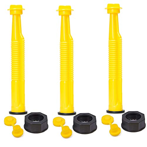ORANDESIGNE 3 Sets Replacement Gas Can Spouts Nozzle Gasket Fuel Can Spout Kit with Gasket Stopper Cap Compatible for RotopaX Scepter Gas Diesel Can Water Container