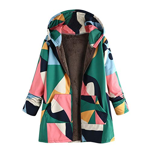 Review Of Pumsun Women's Winter Warm Plush Hooded Coat,Plus Size Vintage Print Zip Hooded Outwearcoa...