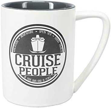 Pavilion Gift Company Cruise People Large 18 Oz Double Sided Coffee Cup Mug Beige product image