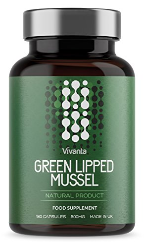 Green Lipped Mussel - 500mg x 180 Capsules | Natural Product, Made in The UK | Highest Quality Green Lipped Mussels Powder