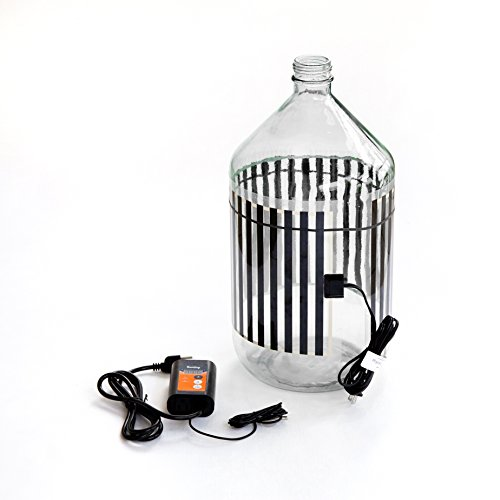 Fermentation Carboy Heater with Thermostat - Kombucha Heating Pad - Heat Pad with Controller for Home Brewing - - Kombucha Warmer Works with any Vessel up to 8 Gallons
