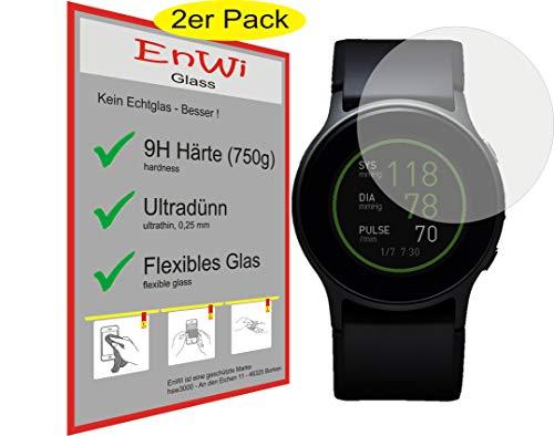 EnWi | 2X Panzer-Glas-Folie 9H Bildschirm-Schutz-Folie für Omron HeartGuide