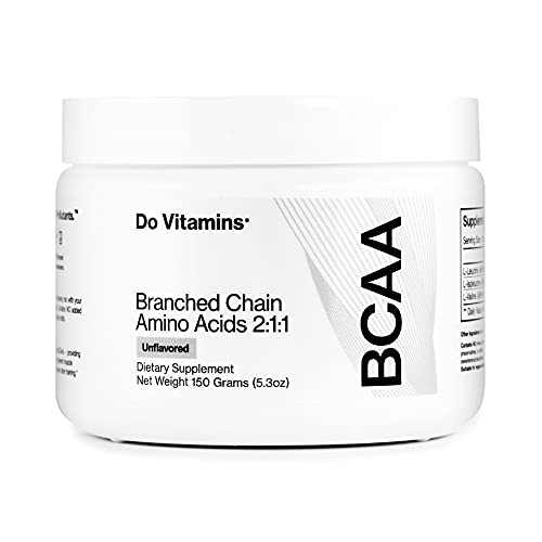 Vegan BCAA Powder Unflavored - Branched Chain Amino Acids - Clean BCAA Powder with AjiPure Essential Amino Acids - Certified Vegan, Paleo, Keto, 2:1:1, 5000 mg (30 Servings) from Do Vitamins