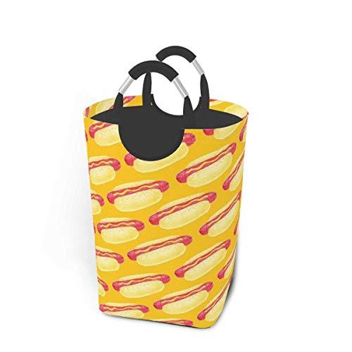Cesto de almacenamiento para ropa sucia, perritos calientes, cesta de almacenamiento plegable grande para ropa sucia, juguetes y libros