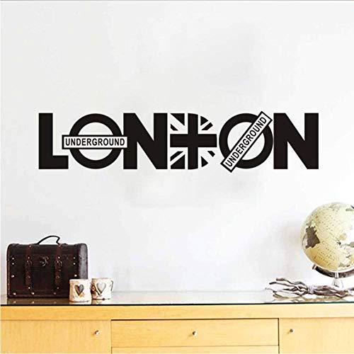 Hochwertige Vinyl Wandaufkleber London Gemälde 44 * 53Cm