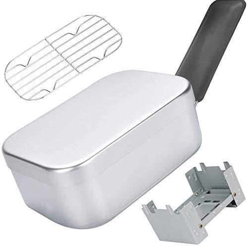 キャンプ用メスティン アルミ飯盒 ハンドルカバー付きハンゴウ クッカー バーべキュー アウトドア炊飯 調理器具 サバイバル メスキット 固形燃料ストーブ