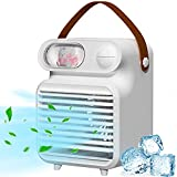 Portable Air Conditioner Fan,CEENFFO Personal Air Cooler 3-in-1 Mini Conditioner 3 Wind Speed,3 Colors Desktop Air Conditioner with Handle for Home/Office/Room/Outdoor