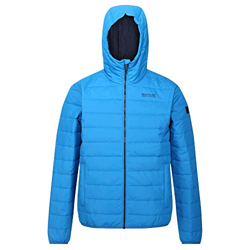 Regatta Helfa Lightweight Water Repellent Insulated Hooded Quilted Jacket, Giacca Uomo, ImperialBlue, S
