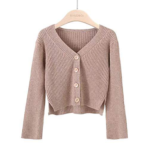 Lulupi Crop Pullover Damen Dünne Strickjacke Kurz, 2022 Herbst Winter Feinstrick Pulli V-Ausschnitt Strickpullover Tops Langarm Sweater Teenager Mädchen