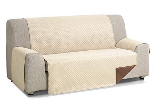 Martina Home Diamond Cubre Sofa Acolchado REVERSBILE, Beige/Marrón, 2 Plazas