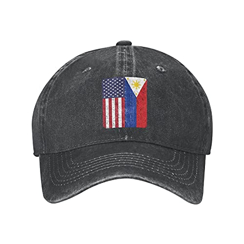 N \ A Gorra de béisbol ajustable con la bandera de Filipinas de Estados Unidos para hombre y mujer