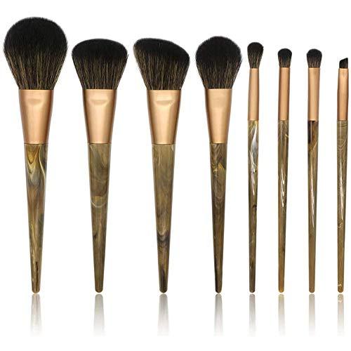 WEHQ Pinceaux, Brosses 8PCS Cosmétiques Maquillage Pinceaux pour Teint Poudre Lèvres Cils Pinceau Fard À Paupières Visage Yeux Maquillage Set Brosses