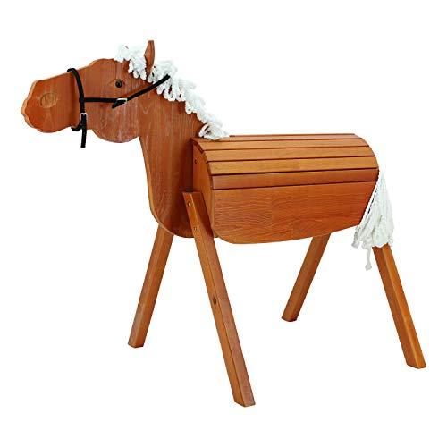 Sweety Toys 12954 Outdoor Gartenpferd Holzpferd Stella Größe L 118 cm MIT Zaumzeug
