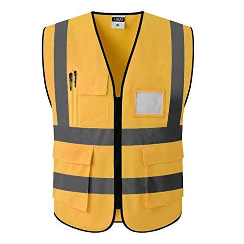 YAYA veiligheidsvesten voor waarschuwingskleding regenjas veiligheidsvesten voor waarschuwingskleding zichtbaarheid vest bouwplaats fluorescerend veiligheidsvesten