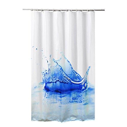 FRANDIS Duschvorhang Polyester 180x 200cm Bleu (32)