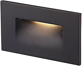Cloudy Bay 120V Dimmable LED Step Light, 3000K Warm White 3W 100lm,Indoor/Outdoor Stair Light,Oil Rubbed Bronze Finis