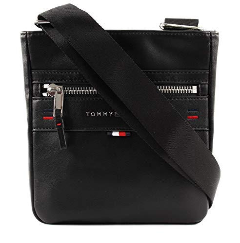 Tommy Hilfiger Elevated Mini Crossover Novelty, Borse Uomo, Nero (Black), 8.5x17x30 centimeters (B x H x T)