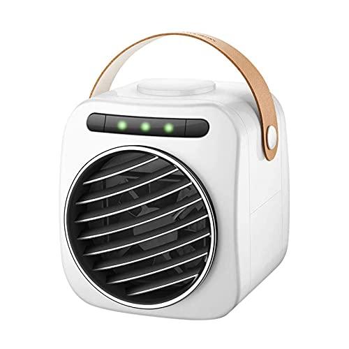 ZHURGN 2021 AC, unidades de CA portátiles portátiles, con asa, aire acondicionado USB Ventilador Mini refrigerador de aire Ventilador de escritorio pequeño, refrigeración por aire personal para el hog