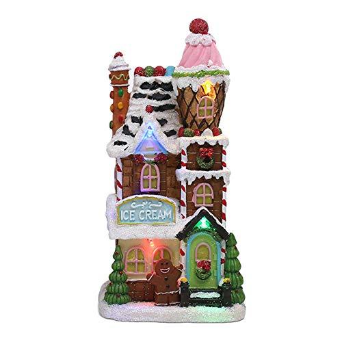 Weihnachtshütte Beleuchtetes LED Porzellan Haus/Weihnachtshaus - Dekoration/Weihnachtsdeko - Weihnachtswelt/Weihnachtsdorf