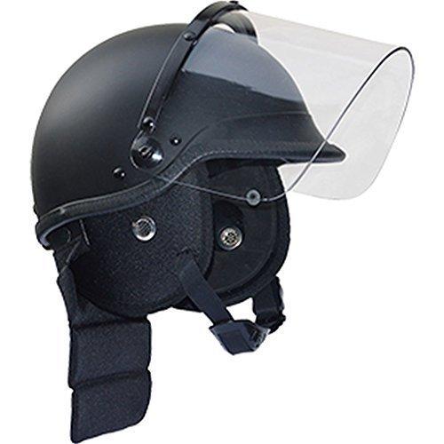 Commando Industries CI SWAT Schutzhelm mit Visier und Nackenprotektoren Einsatzhelm Polizeihelm Motorradhelm Größe verstellbar