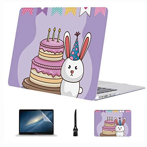 Macbook Pro Estuche para computadora portátil Fiesta de cumpleaños Celebrate Cupcake Cartoon Plastic Hard Shell Compatible Mac Air 13'Pro 13' / 16'Macbook Pro 2016 Funda para 2016-2020 Version
