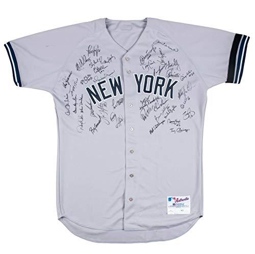 2000 Yankees Team Signed Game Used Jersey Derek Jeter Mariano Rivera Beckett COA