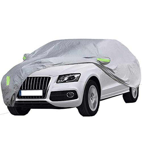 ELUTO SUV Car Cover Waterproof All Weather Full Car Covers Breathable Outdoor Indoor for...