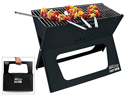 BBQCroc Portable Easy Grill - Next Generation of X Grills - Premium Foldable Charcoal Barbecue Extra Large Grilling Surface, with Travel Bag & Grill Lifter