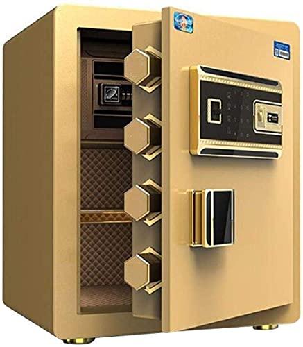 XiYou Caja Fuerte de Seguridad, hogar electrónico con casa Mediana, pequeña Huella Digital, contraseña, gabinete de Seguridad para Oficina, Caja Fuerte de 38 * 32 * 45Cm
