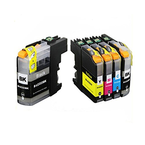 Win Tinten cartuccia di inchiostro ricambio per BROTHER LC223, compatibile conbrother dcp-j562dw DCP-J4120DW mfc-j480dw MFC-J4420DW MFC-J5320DW (2Nero, 1ciano, 1magenta, 1giallo) stampanti