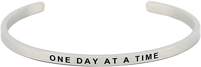 Jude Jewelers 6mm Width Stackable Stainless Steel Inspirational Bangle Bracelet