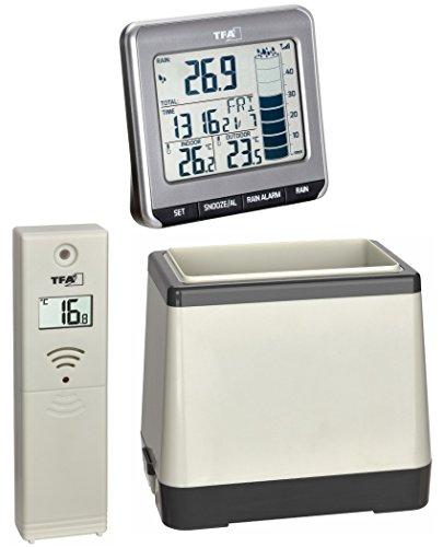 TFA-Dostmann Funk-Regenmesser Rainman TFA 47.3004.10 anzhrazit Regenmonitor Thermometer