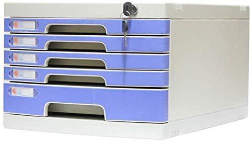 Archivadores Adopta grandes Cajones de plástico amigables con múltiples capas Organizador Cerradura Diseño de puertas Suministros de oficina Estantería de plástico Pp (Color: Azul, Tamaño: 4 capas gra