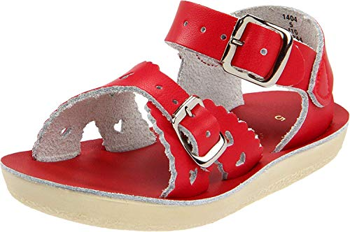Salt Water Sandals by Hoy Shoe Sweetheart,Red,10 M US Toddler