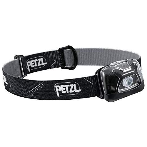 PETZL, TIKKINA Outdoor Headlamp with 250 Lumens for Camping and Hiking, Black