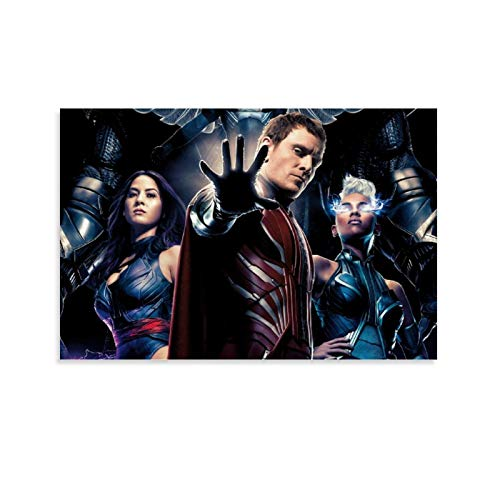 DRAGON VINES Película X-Men Apocalipsis Mutante Tormenta Psylocke Magneto Pintura Enmarcada Familiar Sala Club Decoración 60x90cm