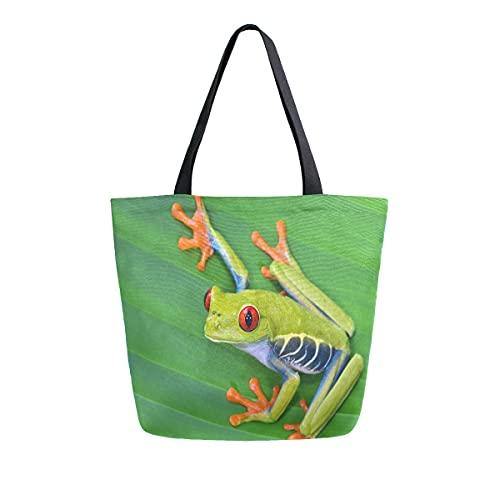 MeetuTrip - Bolsa de lona para mujer, tamaño grande, reutilizable, bolsa de hombro, para escuela, adolescentes, niñas, profesora de viaje