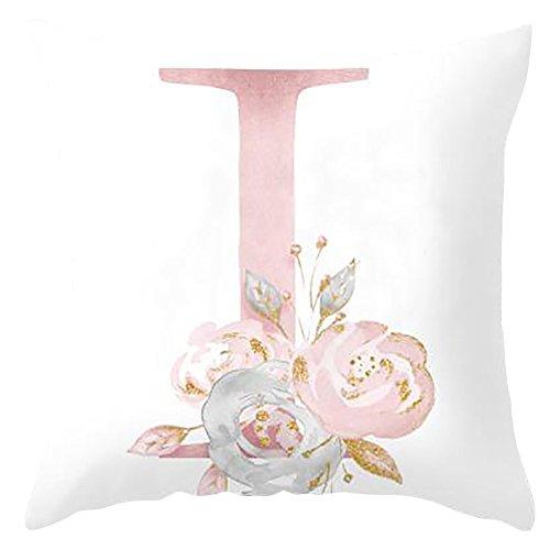 H87yC4ra Cubiertas del Cojín del Alfabeto, Funda De Almohada Decorativa para El Dormitorio del Sofá De La Sala De Estar yo