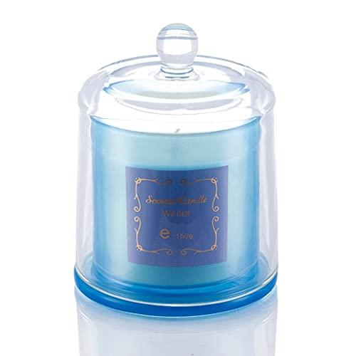 AngYou Velas Perfumadas Bell Jar Tarra de Soja Cera de Aromaterapia Vela Sin Humo Botella de Vidrio Vela Nordic Decoración de la Boda (Color : Coffe)