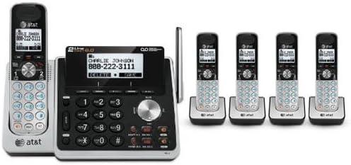 AT&T TL88102 + (4) TL88002 5 Handset Cordless Phone (2 Line) DECT 6.0