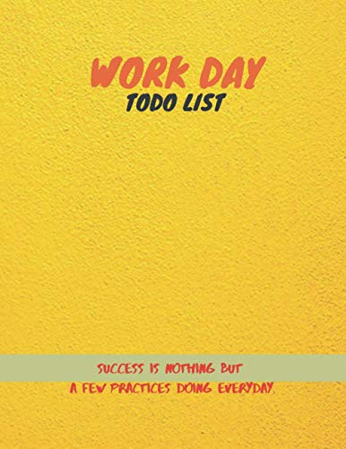 Work day Todo List, Outdoor rich bright texture color cover, 100 pages - Large(8.5 x 11 inches)